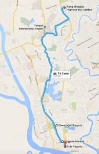 Yangon map